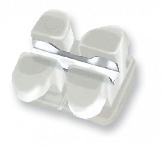 Clarity™ Metal 018 slot reinforced Ceramic Brackets-5X5-Pack of 1