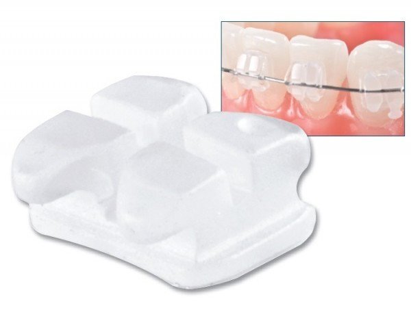 Unitek™ Gemini Clear Ceramic Bracket 5X5- pack of 1