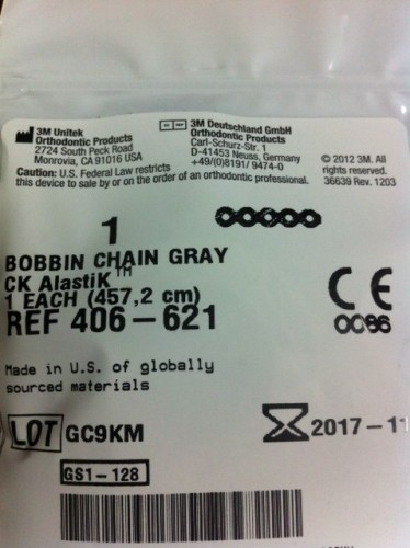 Bobbin Chain - Gray Short -1 Spool