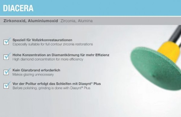 Sale!! Diamond Polishing System for Zirconia- EVE DIASYNT Plus/DIACERA RA 322