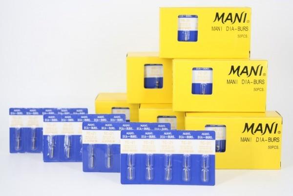 Mani Dia Burs Straight Fissure(SF Series) MOQ 5 Packets