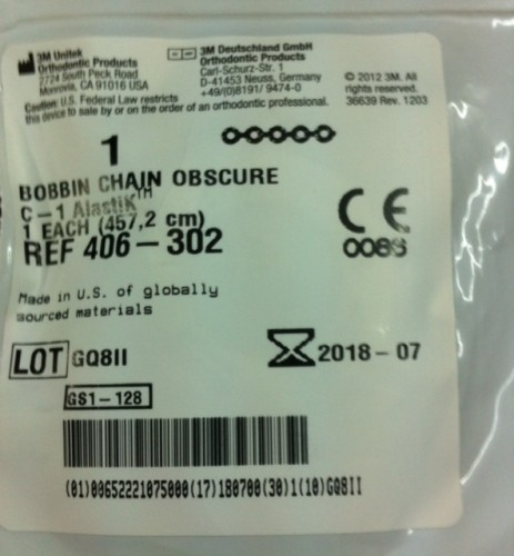 Bobbin Chain - Clear Short - 1 spool