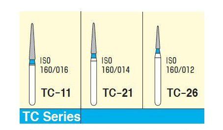 MANI DIAMOND BURS - TAPER CONICAL END / TC SERIES